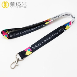 Cheap Custom Logo Neck Heated Transfer Printing Fashion Lanyards