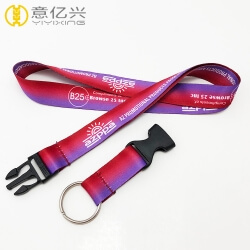 Custom logo pretty and comfortable polyester lanyards for women