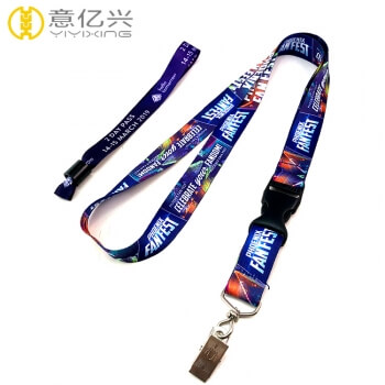 Factory supply custom print lanyard keychain with wrist lanyard