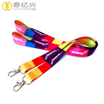 Custom funny logo printed pretty lanyards for girls