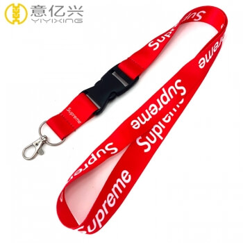 Best Seller Customized Exhibition Eco-Friendly Supreme Red Lanyard