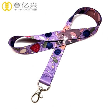 Hot products durable cartoon logo printing name lanyards