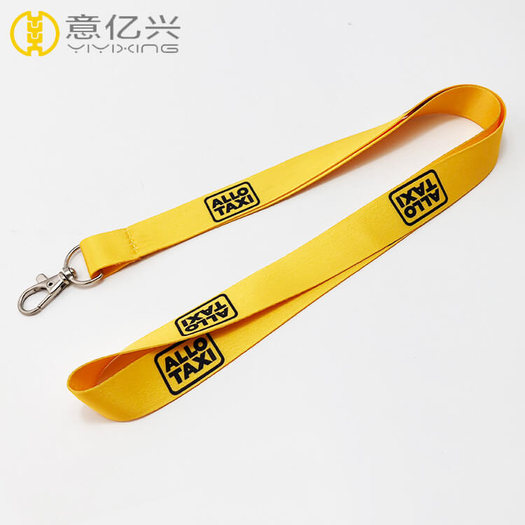 Cheap yellow colored polyester sublimation custom lanyards for sale