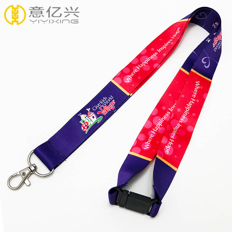 Customized Printing Design Coach Lanyard With Safety Buckle