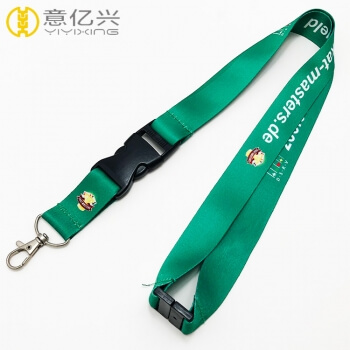 Customized logo promotional green lanyard with factory price