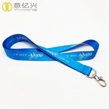 custom new style promotional heat transfer printed navy lanyard