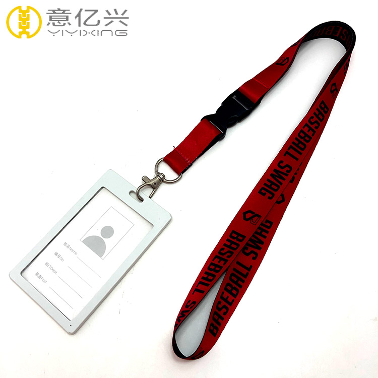 Polyester Red Printed Sublimation Designer Id Lanyard