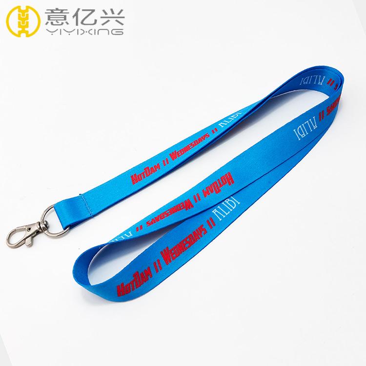 2019 eco-friendly blue tape sublimation custom neck lanyard