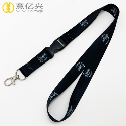 Lanyard maker custom brand name heat transfer printed lanyard