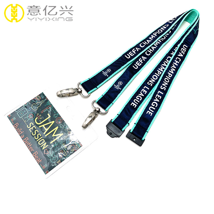 Exhibition business custom adjustable key chain lanyards for badges