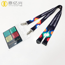 China wholesale brand name silkscreen id card holder lanyards