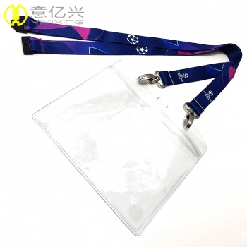 Beautiful lanyard with pvc pouch id lanyard card holder