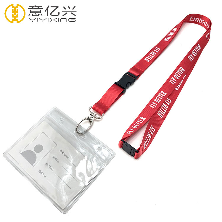 Custom new style printing silkscreen id card holder and lanyard
