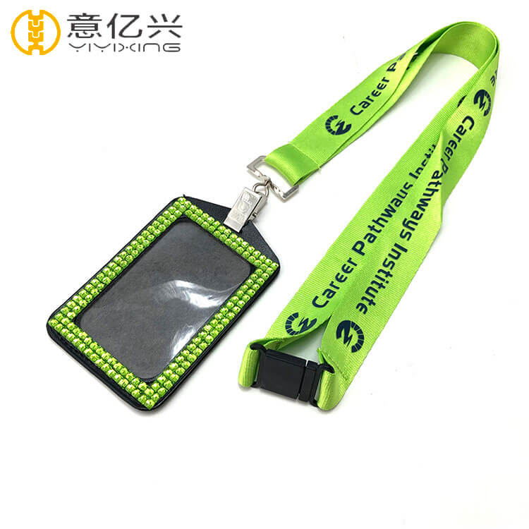 Personalize custom neck printing logo cute lanyard id holder
