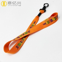 Wholesale silkscreen logo best quality lanyard with plastic clip
