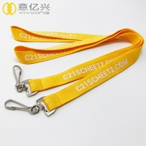 Polyester silkscreen logo printing custom lanyards for sale
