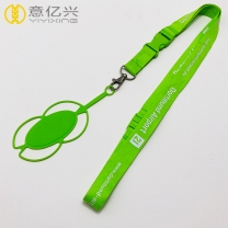 Free Design Adjustable Custom Print Polyester Cell Phone Lanyard