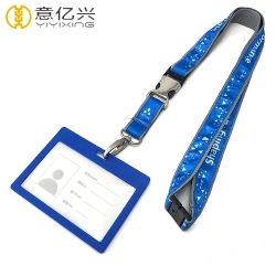 Customized Sublimation Printed Polyester Neck Designer Id Lanyard