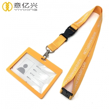 Colorful spring tape silkscreen logo lanyard name badge holders