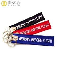 Customized luggage tag personalized remove before flight keychain