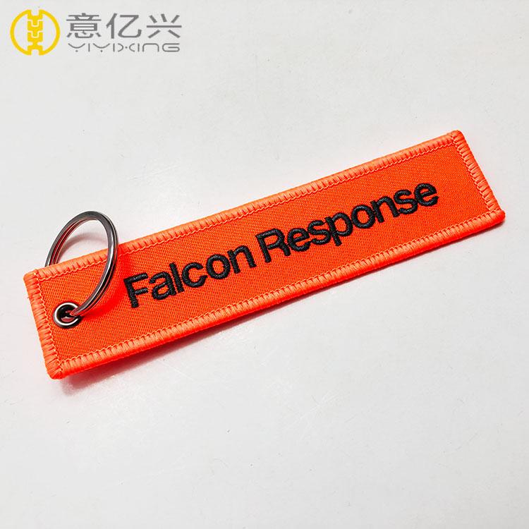Wholesale Custom Brand Name Promotional Travel Souvenir Embroidered Keyring