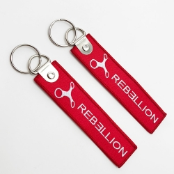 Cheap embroidery die cut personalized fabric keychains