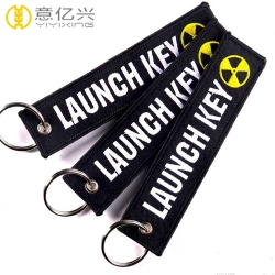 Good Design Logo Custom Fabric Keychains With Embroidery