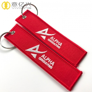 High quality personalized embroidered keychains for motorcycle