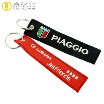 Cheap custom embroidered logo keychain for motorcycle key
