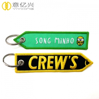 Factory direct supply cheap promotion gift embroidered takata keychain