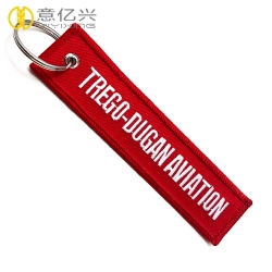 Promotional popular remove after flight keychain with metal split ring