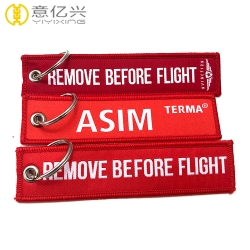 Personalized Design Promotional Gifts Twill Fabric Flight Keychain