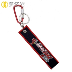 Personalized remove before flight sticker keychain with carabiner