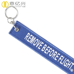 China factory wholesale embroidery keychain custom flight tags