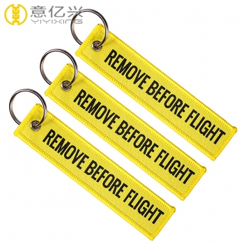 Woven Remove Before Flight Keychain