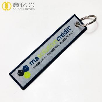 custom woven key tags