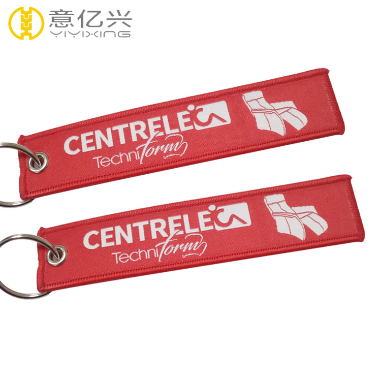 Custom design polyester fabric ribbon create your own keychain