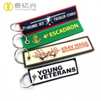 Customized luggage tag label insert before flight keychain
