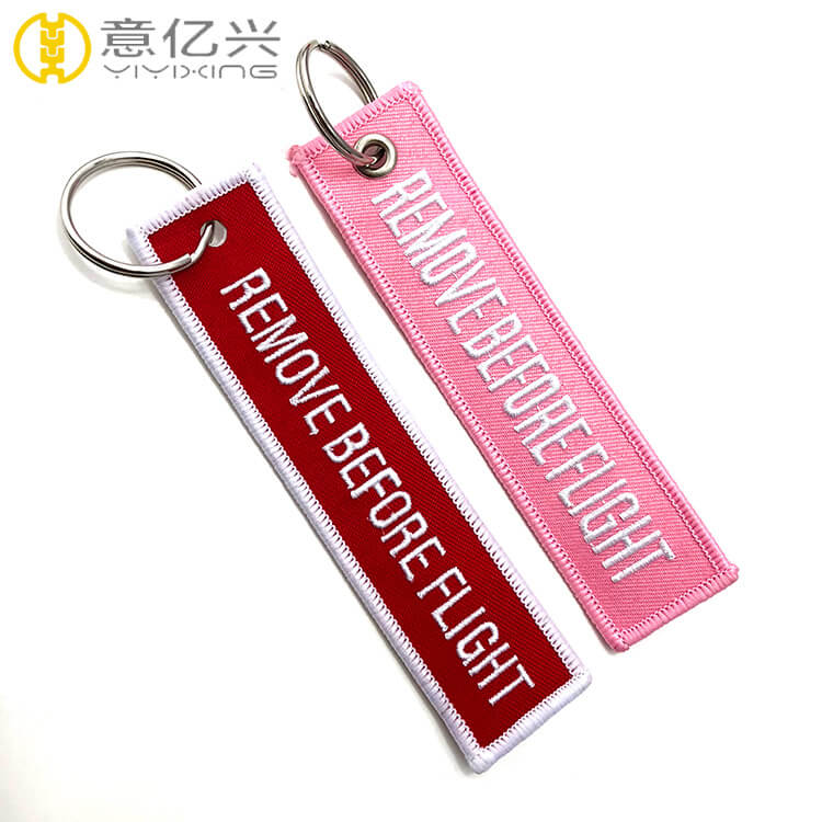 3D embroidery airplane remove before launch tag key chain