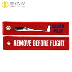 Cheap custom tag flights colourful embroidery keychain aviation