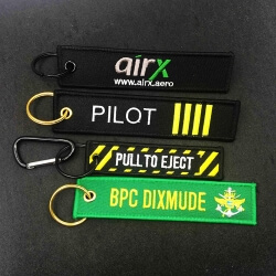 Promotional custom machine embroidery key fobs keychain