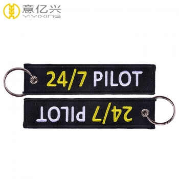 Wholesale brand logo jet tag keychain custom for pilot flight