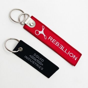 Customization textile superior quality pet home alone keychain