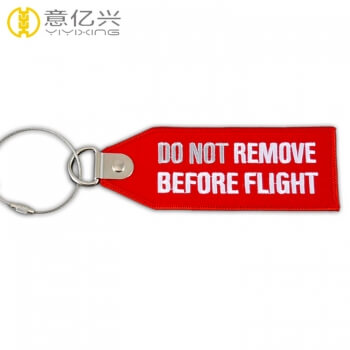 remove before flight small keychain