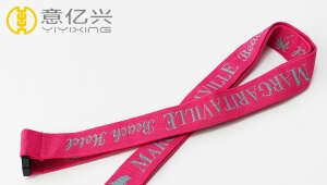 2019 personalized logo custom jacquard printing cute lanyards