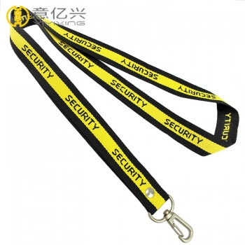 Promotional Custom Jacquard Printed Name Logo Label Funny Lanyards