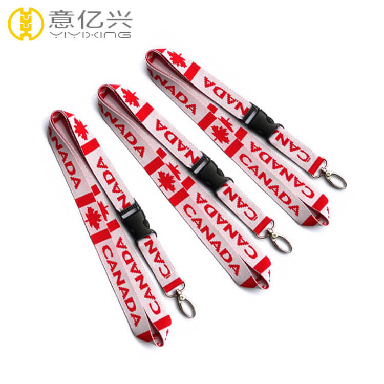 Cheap polyester tape custom design your own printing lanyard strap