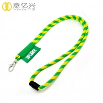 Woven polyester logo cheap custom neck rope lanyard