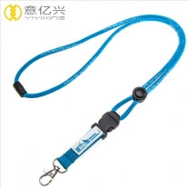 OEM Custom webbing label logo adjustable rope lanyard