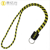 High end round elastic cord woven oakley rope lanyard
